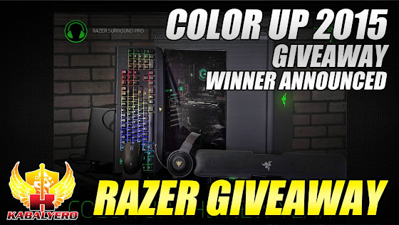 Razer Giveaway 2015, Color Up 2015 Giveaway, Winner Announced