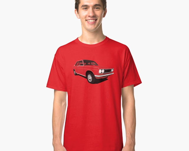 Red Datsun Bluebird 1600 510 t-shirt