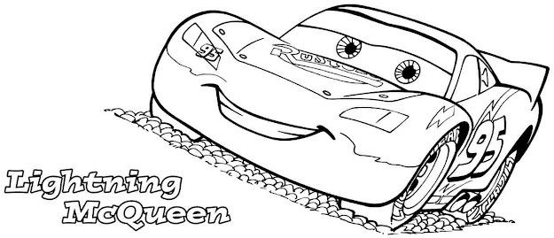 Lightning Mcqueen Coloring Page With Lightning Mcqueen Coloring Page