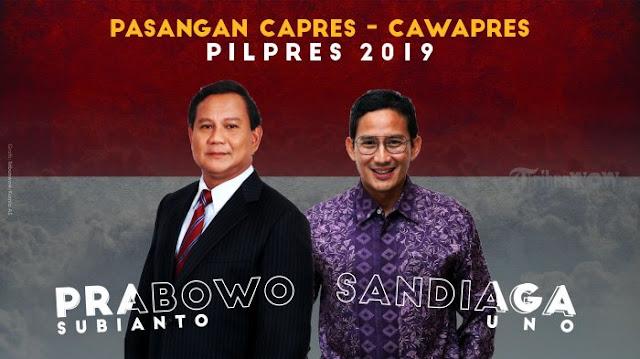 Tak Dibebani Jadi Timses, Bupati dan Wakil Bupati Garut Ucapkan Terima Kasih pada Prabowo-Sandi