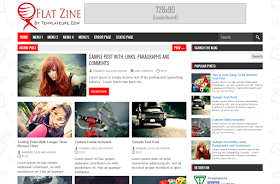 Flat Zine Responsive Blogger Template
