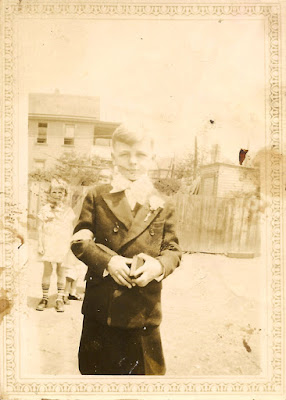Unidentified boy in a suit. Possibly a first Communion photo. Circa the 1920's? Dixon or Karvoius side of the family?