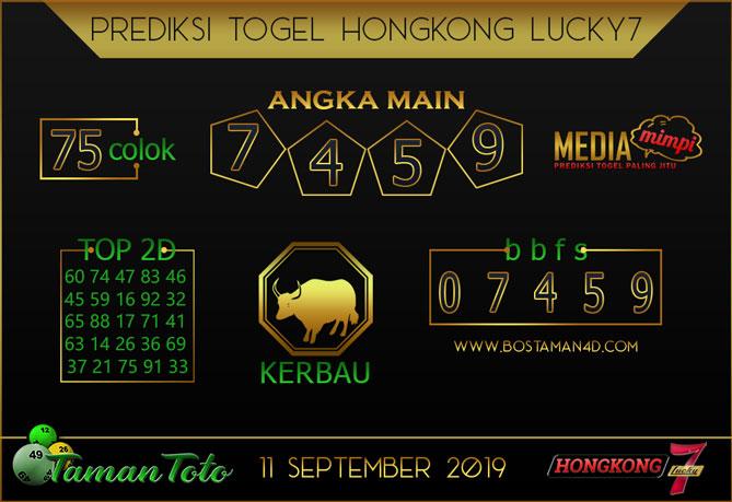 Prediksi Togel HONGKONG LUCKY 7 TAMAN TOTO 11 SEPTEMBER 2019