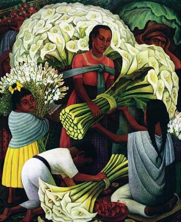 Tranh Diego Rivera, Tranh sơn dầu