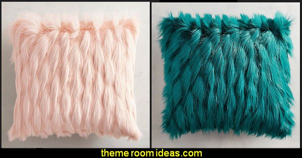 Faux Fur Eyelash Pillow  faux fur home decor - fuzzy furry decorations - Flokati - mink - plush - shaggy - faux flokati upholstery - super soft plush bedding - sheepskin - Mongolian lamb faux fur - Faux Fur Throw - faux fur bedding - faux fur blankets - faux fur pillows - faux fur decorating ideas - faux fur bedroom decor - fur decorations - fluffy bedding - feathery lamps