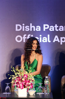 Disha Patani in Beautiful Green Gown at her App Launch 015.JPG