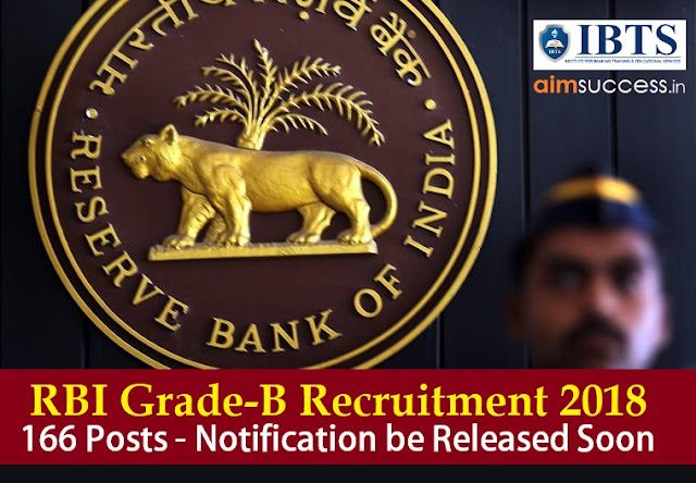 RBI Grade-B Recruitment 2018 166 Posts - Notification be Released Soon