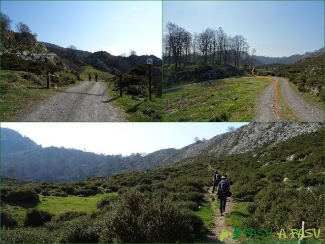 Bajando por el camino de la Reconquista de los Lagos de Covadonga a Covadonga