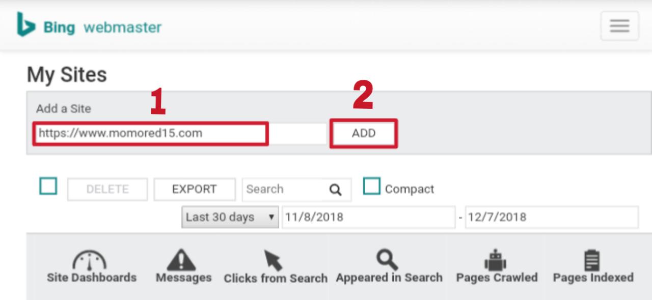 Cara daftar ke bing webmaster dan memasukan  sitemap blog untuk perayapan search engine bing