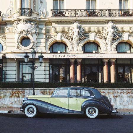 Vintage Rolls in front of Louis XV Restaurant ALAIN DUCASSE À L' HÔTEL DE PARIS