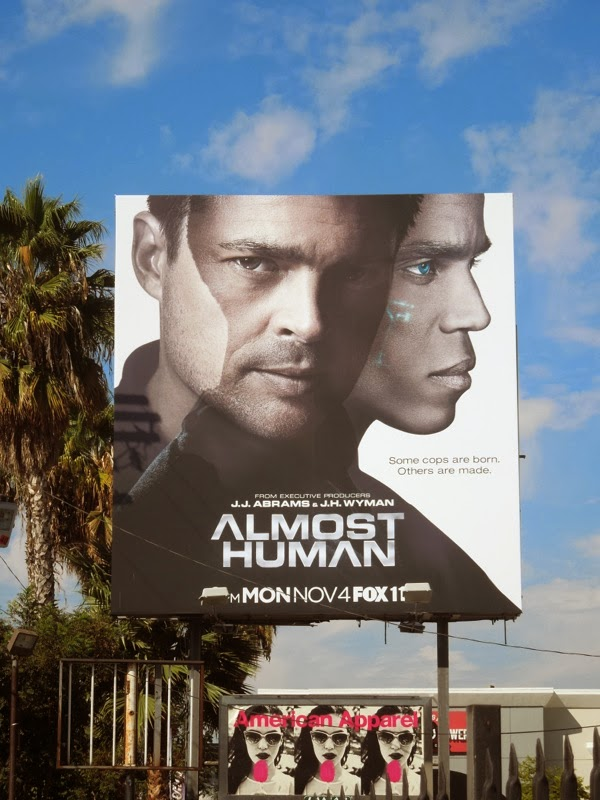 Almost Human series premiere billboard