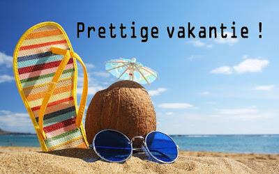 Fijne vakantie gewenst!