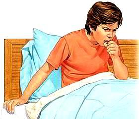 Imagen de un adolecente con tos o toceando