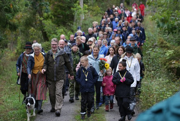 Crown Princess Victoria attended celebrations of 150th anniversary of Dalsland Canal. Svankila Nature Reserve