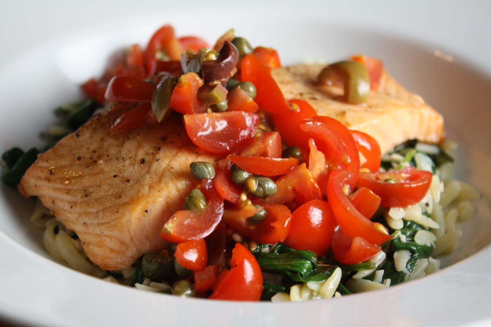 DrSue.ca: Flavour Country! Baked Salmon with Olive Tomato ...
