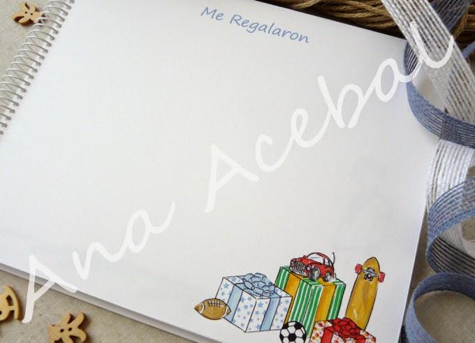 Interior Libro Comunión firmas recuerdos personalizado original
