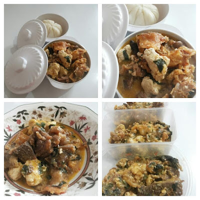 Nigerian white soup with egusi soup