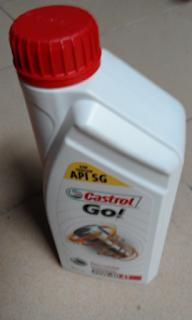 Gambar minyak hitam Castrol Go
