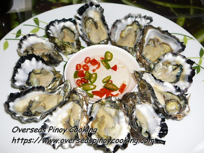 Kinilaw na Talaba, Oyster in Vinegar Chili Dip Recipe