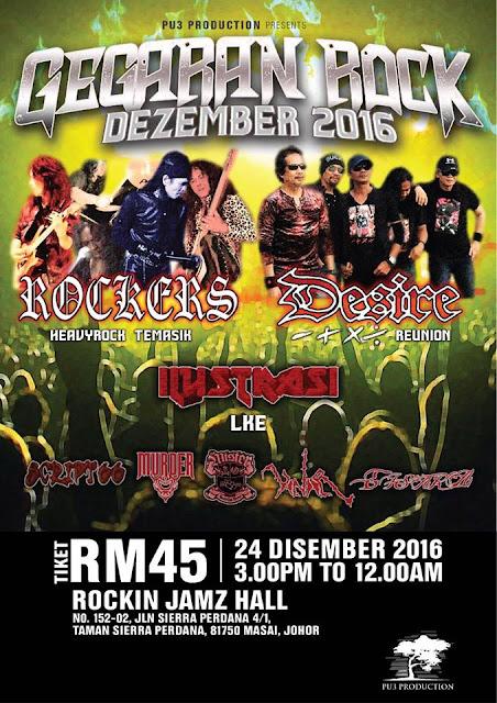 Event Gegaran Rock - Rockers Desire Ilustrasi | 24 Disember 2016