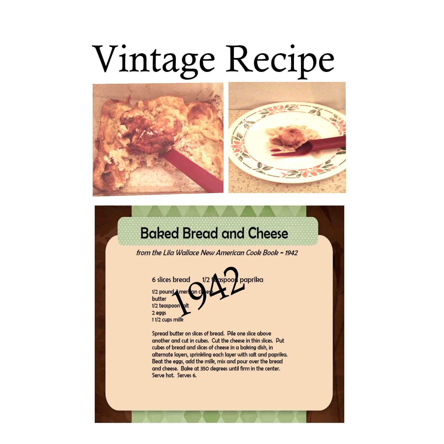Old New England Recipes Baked Bread And Cheese Old
