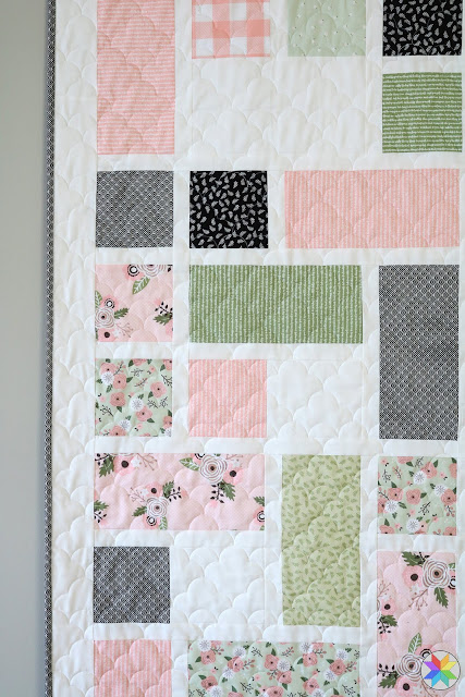 Grandstand quilt pattern by Andy of A Bright Corner from the book Fresh Fat Quarter Quilts - fabrics are Modern Farmhouse from Riley Blake Designs