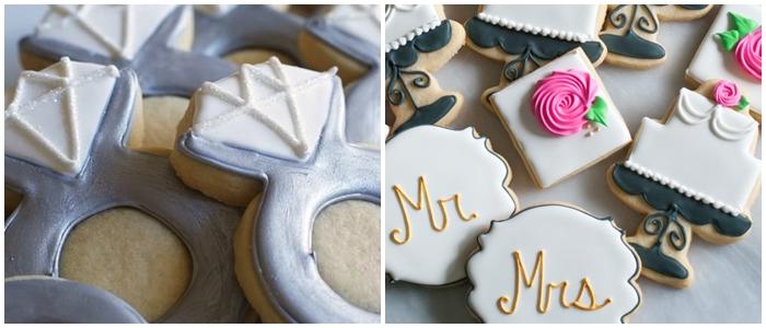 Bake at 350 decorated cookie index: wedding cookies