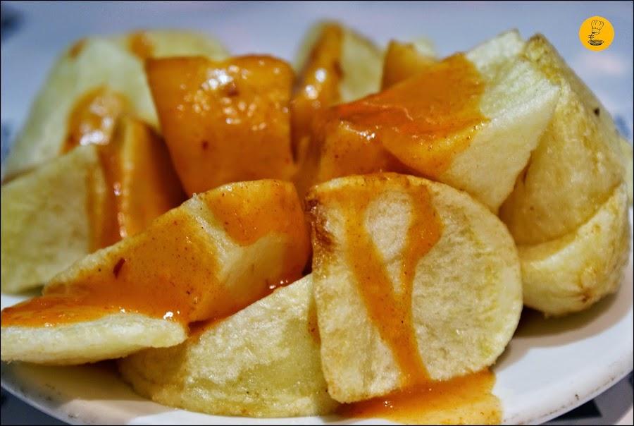Mejores patatas bravas en Bar Docamar Madrid Quintana