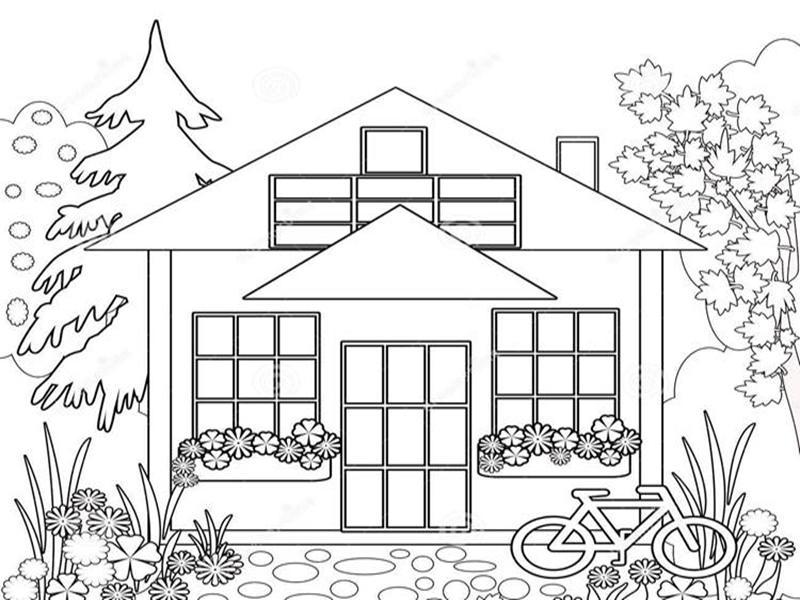 1080+ Gambar Rumah Mewah Untuk Diwarnai Gratis Terbaru