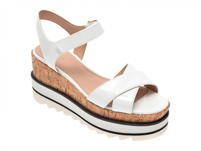 Platforme moderne de vara causal de dama albe ALDO la moda