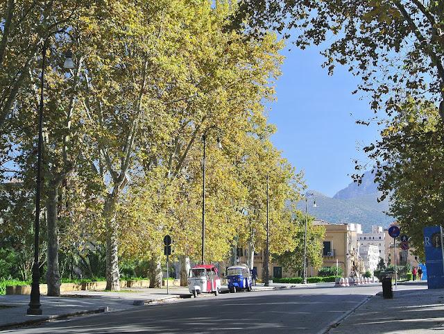 widok na ulice w Palermo, Sycylia, Włochy