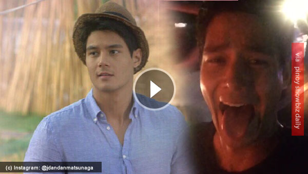 Daniel Matsunaga rides a bike to the airport without a helmet