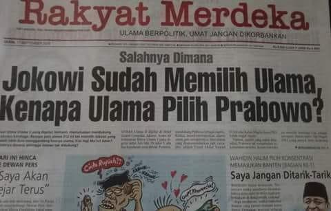 Prabowo-Sandi Pasangan yang Dipilih Ulama, Bukan Sebaliknya