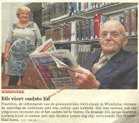 Gustaaf als trouwe bibliotheekbezoeker