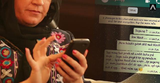 'Macam budak-budak gadoh sikit nak block' - Luahan isteri kecewa whatsapp diblock suami