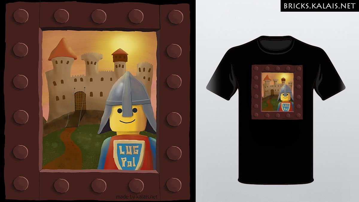 Ilustracja z ryczerzem Lego
