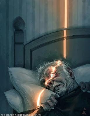 Lustiges Bild - Mann kann Nachts im Bett nicht einschlafen lustig