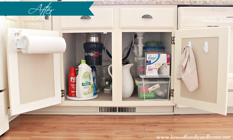 Under Kitchen Sink Organizer Blender Cleaning Organizing The Love Of Family Home Pin It