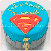 Tarta fondant Superman