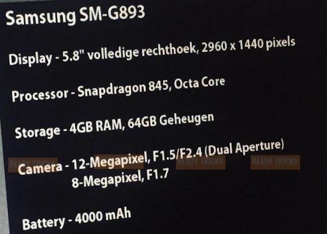 Inikah Samsung Galaxy S9 Active dengan Kapasitas Baterai Besar