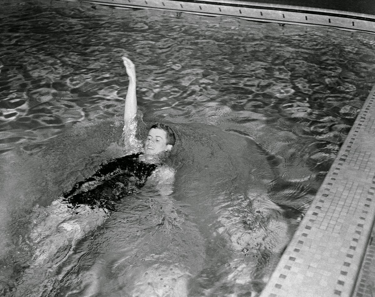 Interesting Photos Of Young John F Kennedy Swims For