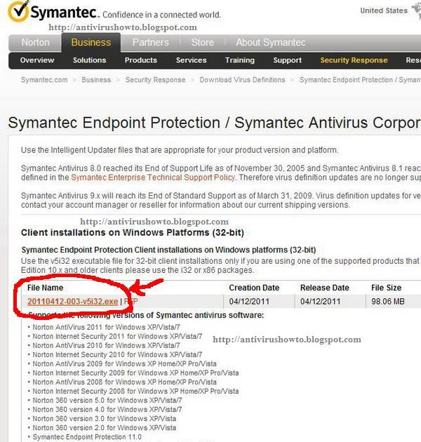 How To update symantec antivirus Server manually