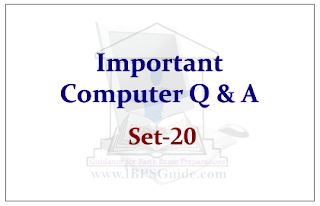 Important Computer Questions for Upcoming Bank PO and Clerk Exam