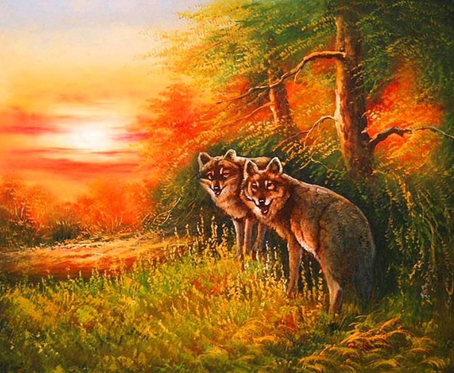 Paisajes De Animales: Imágenes Arte Pinturas: PAISAJES CON ANIMALES