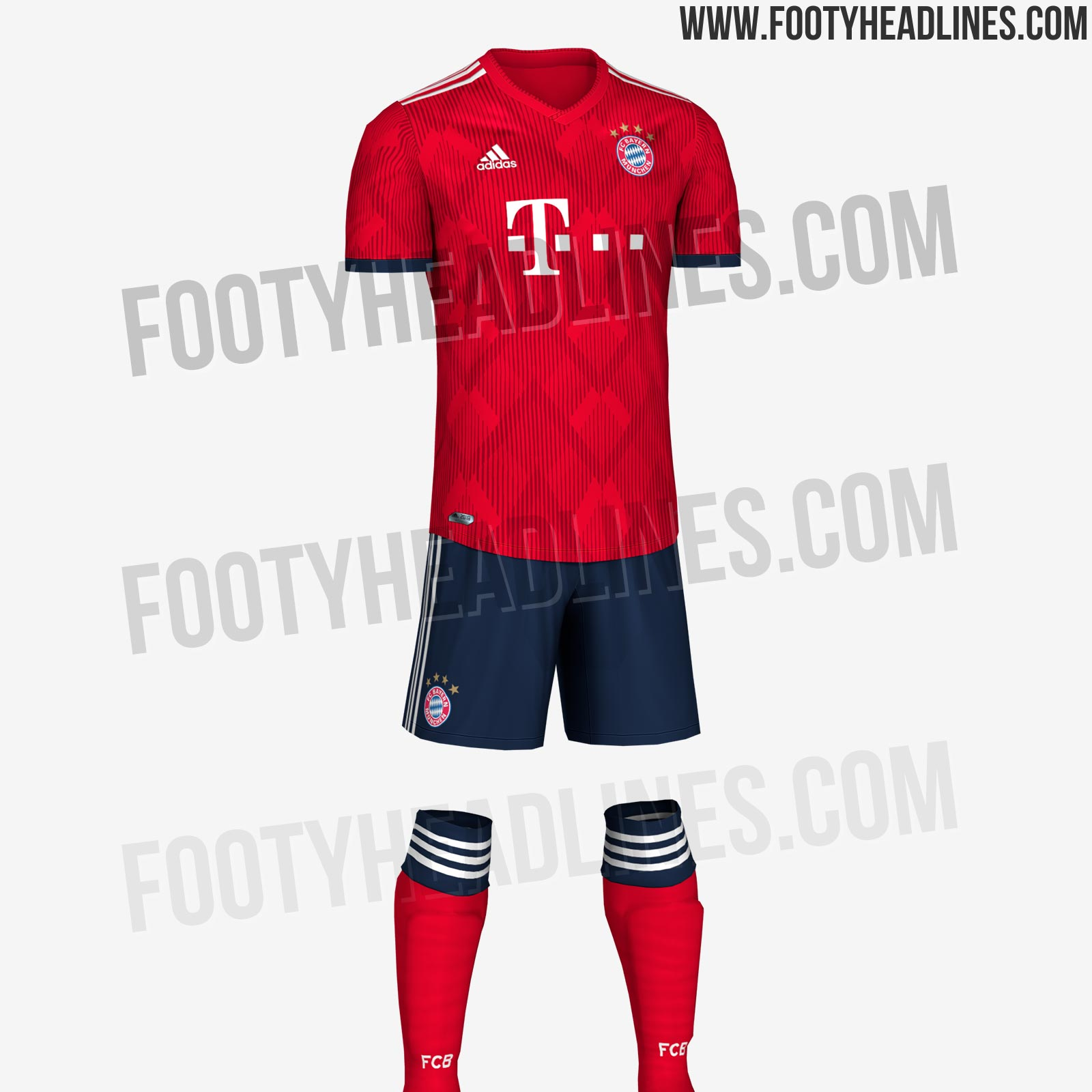 60c720a649a Dark blue shorts and red socks complete the Bayern Munich 18-19 kit.