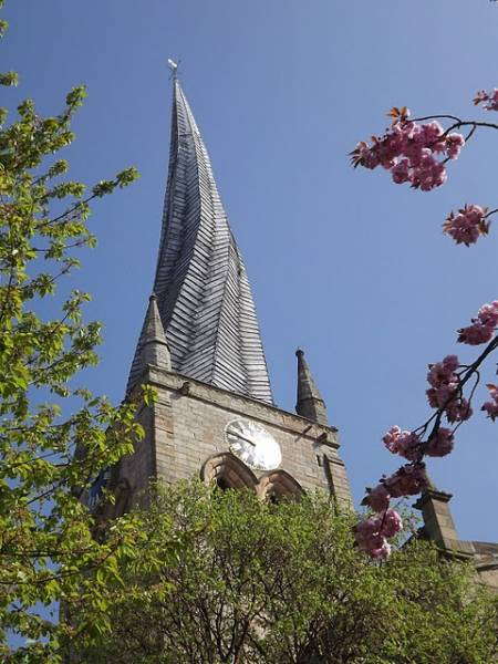 Chesterfield Crooked Spire: In The Pink: Beautiful Spring