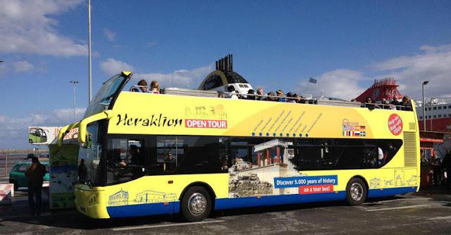 Passeio em ônibus panorâmico por Heráklion, Creta