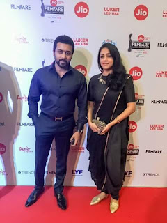 Surya and Jyothika at 2017 Filmfare Awards images