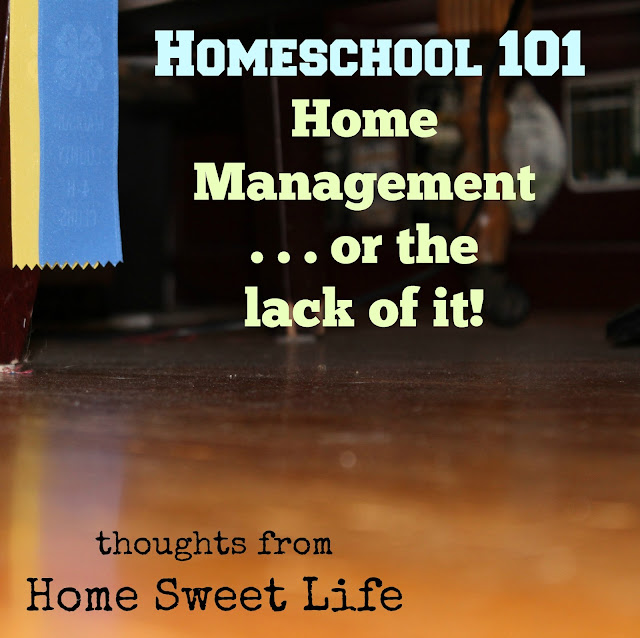 Homeschool 101, home management