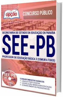 Apostila concurso SEE-PB 2017 Professor de Educação Básica 3